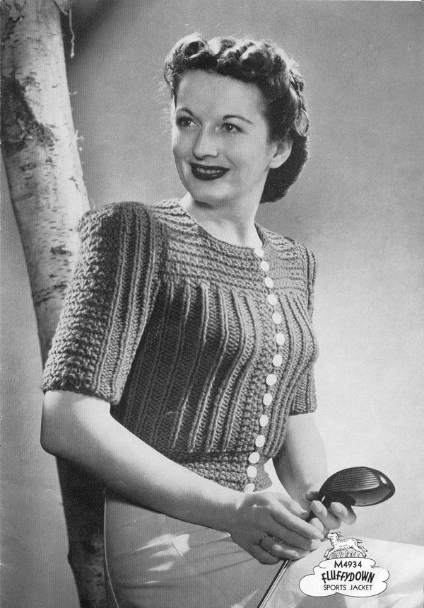 The Vintage Pattern Files 1940s Knitting Corticelli Fluffydown