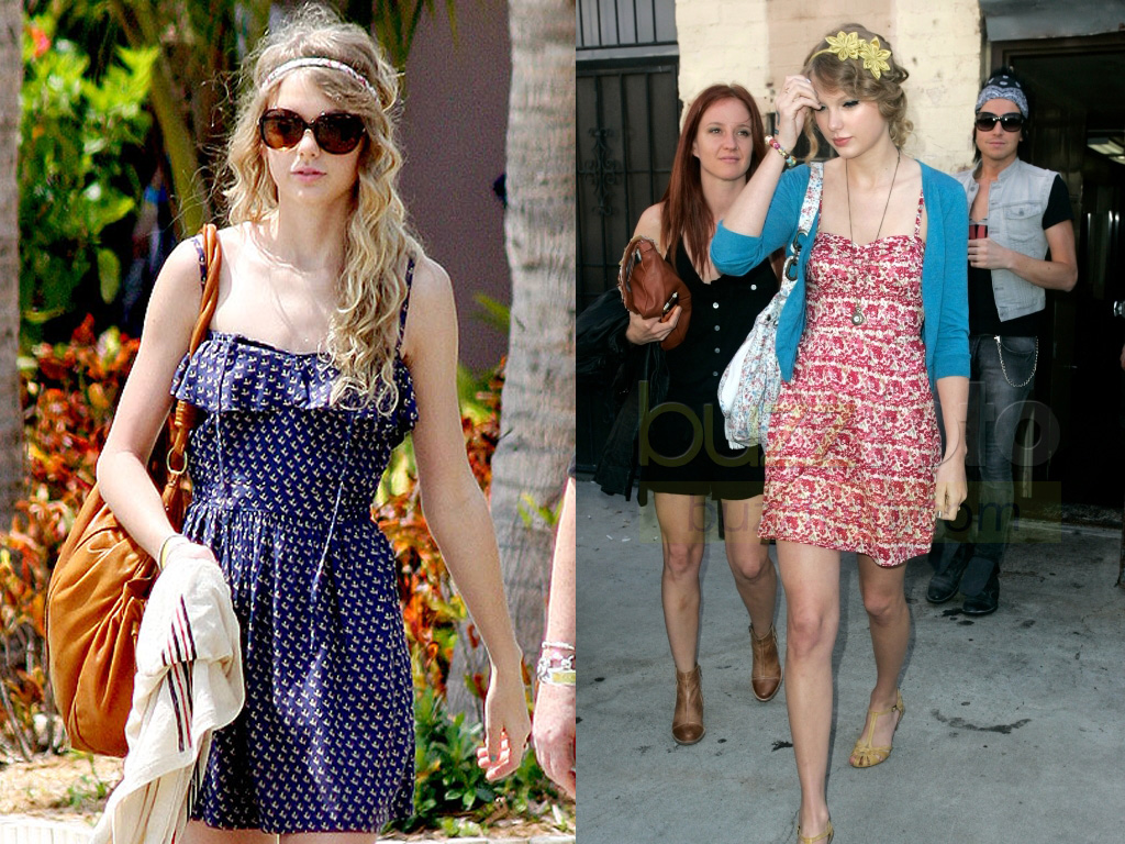 Tylor Swift Casual Dress ups With Blue or Pink