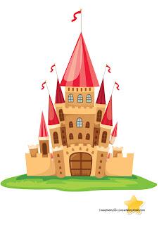 Castillo de princesas Cuentos para recortar y pegar