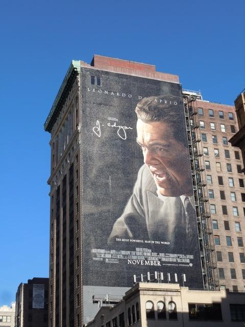Giant J. Edgar billboard NYC