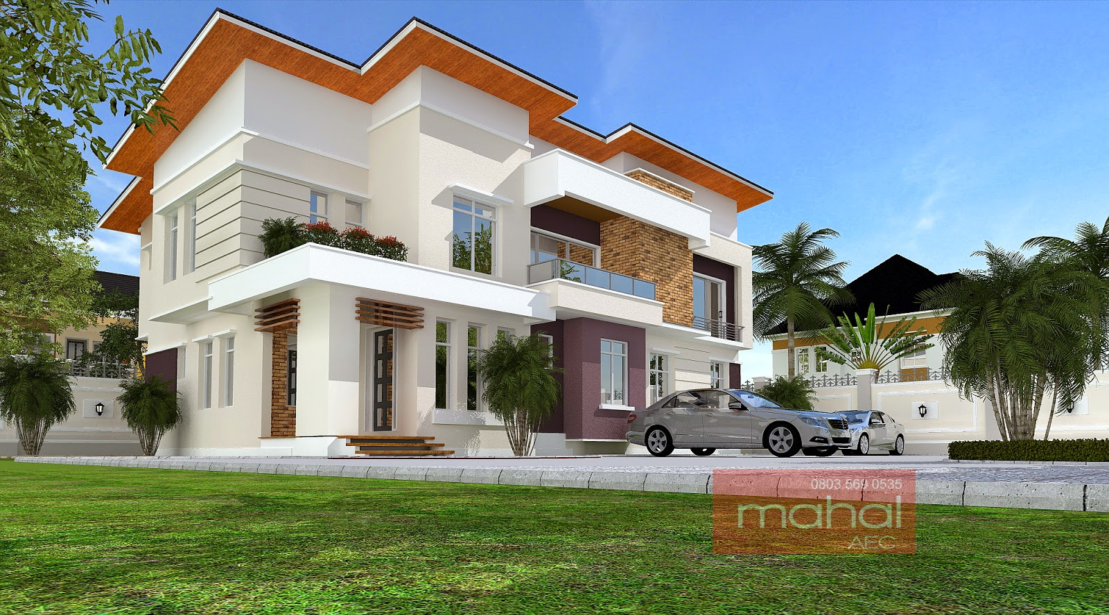 Contemporary nigerian residential architecture for Nigerian home designs photos