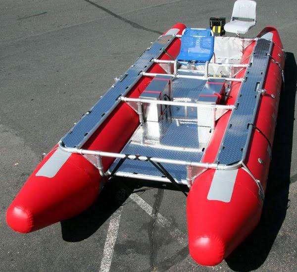 Red Cataraf Boat