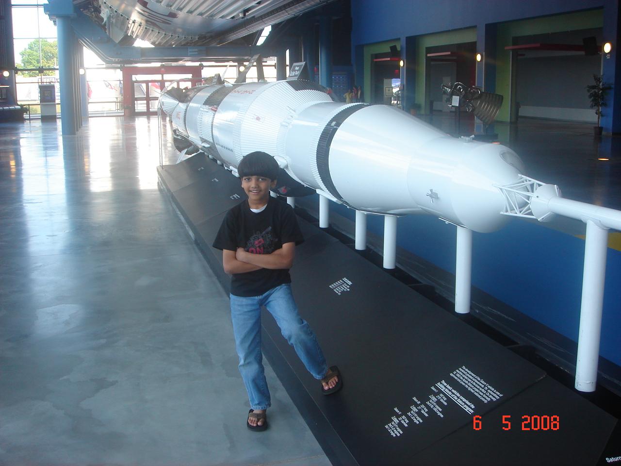 Saturn V Rocket at Rocket City,Huntsville USA