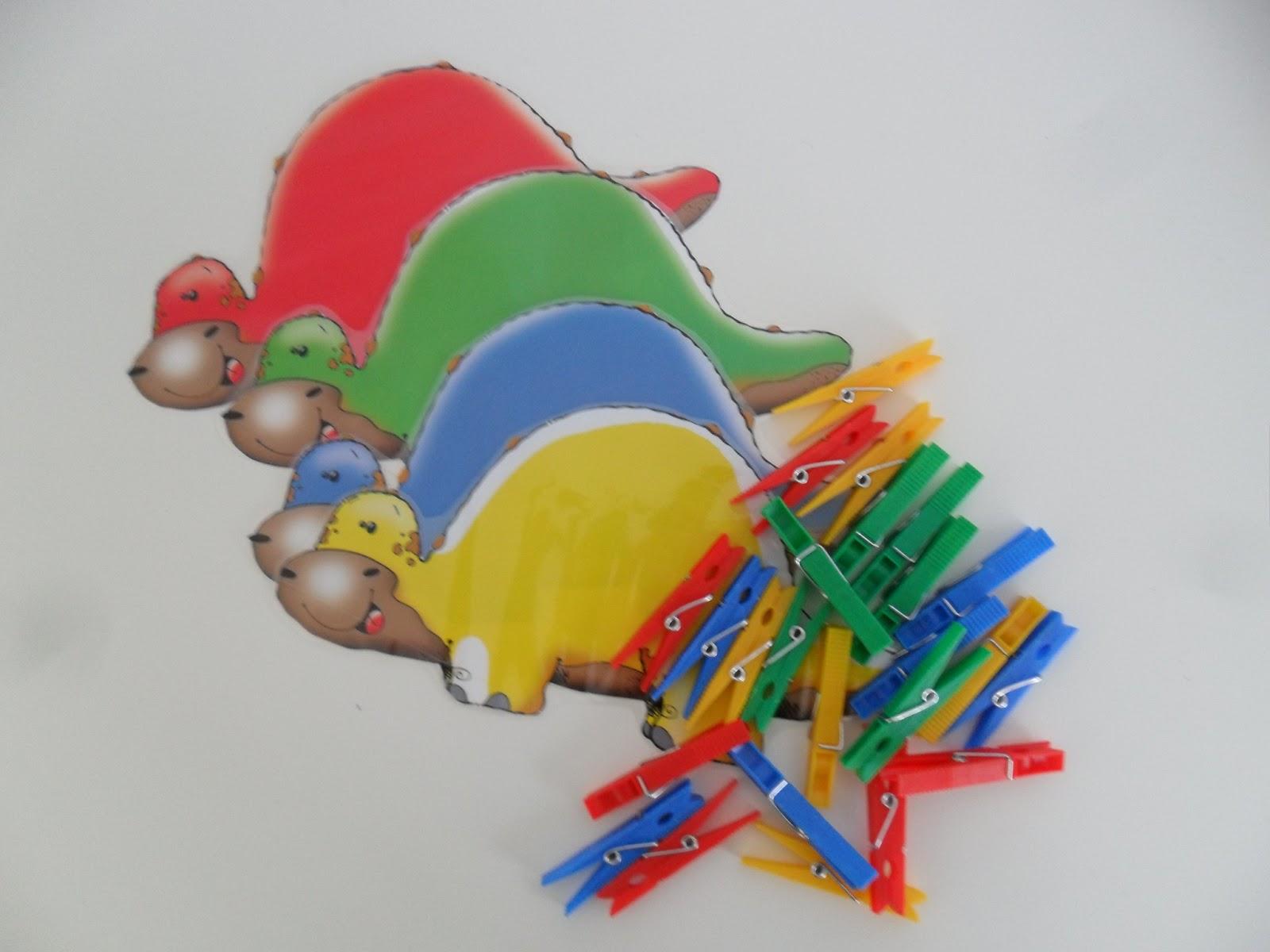 Materiales para Educación Infantil: DINOSAURIOS DE COLORES