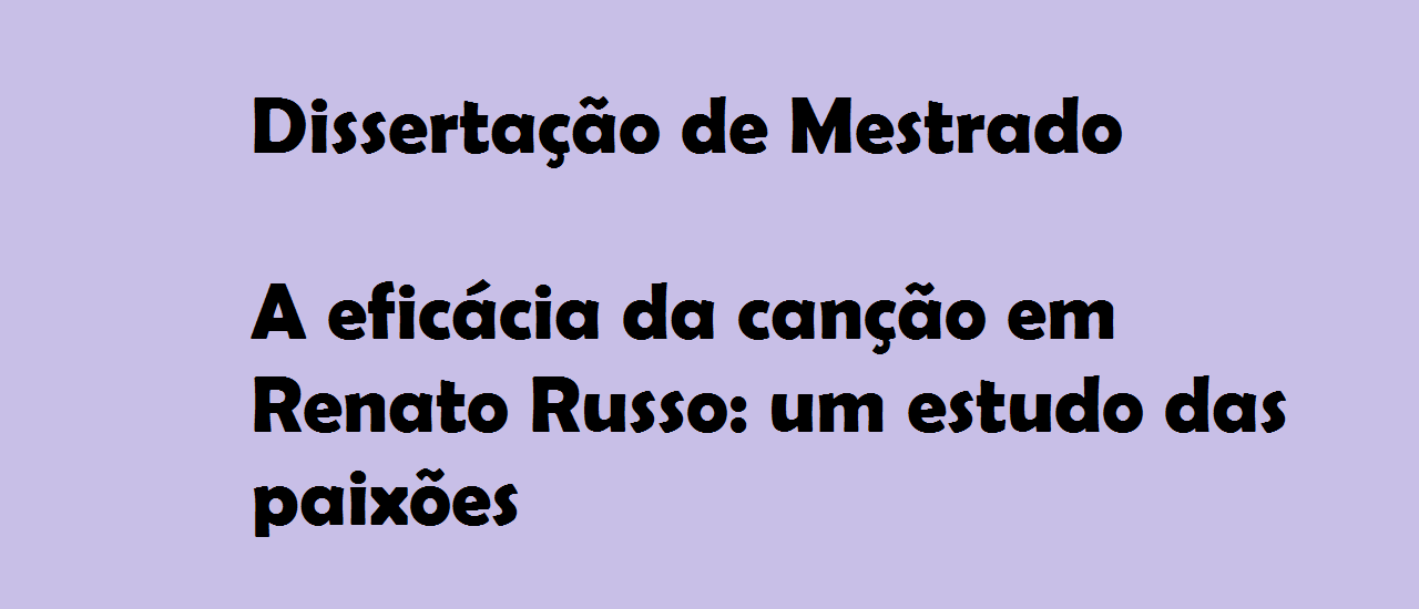 DISSERTAÇÃO DE MESTRADO