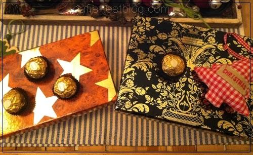 Mit Ferrero Rocher Weihnachtspäckchen verschönern