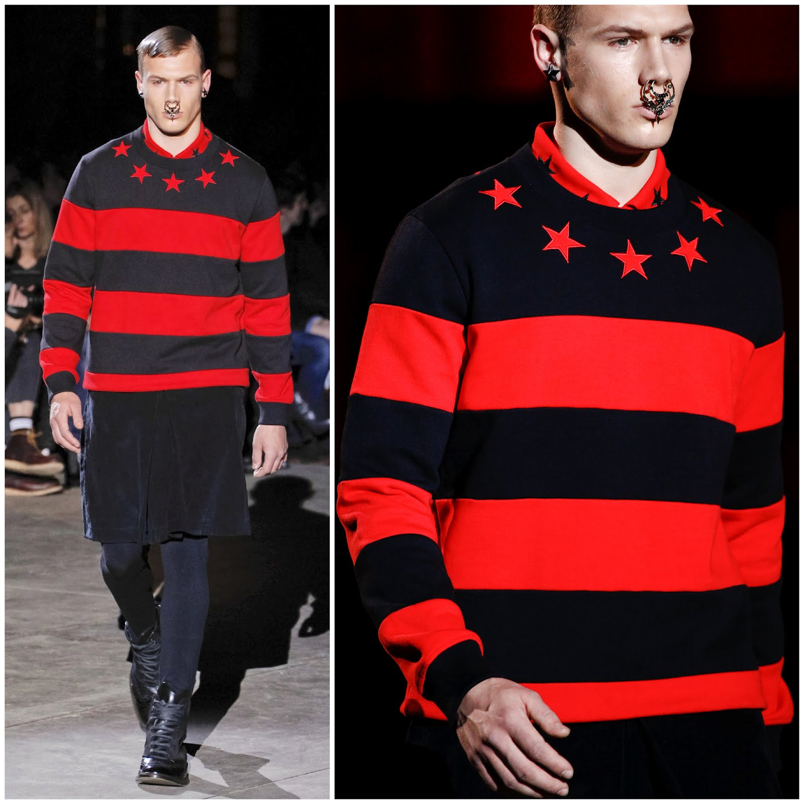 00O00 London Menswear Blog Givenchy Striped Cotton Jersey Sweater