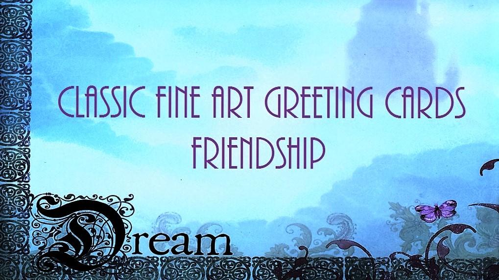 CLASSIC FINE ART GREETING CARDS / Friendship / A MOONLIGHT NIGHT