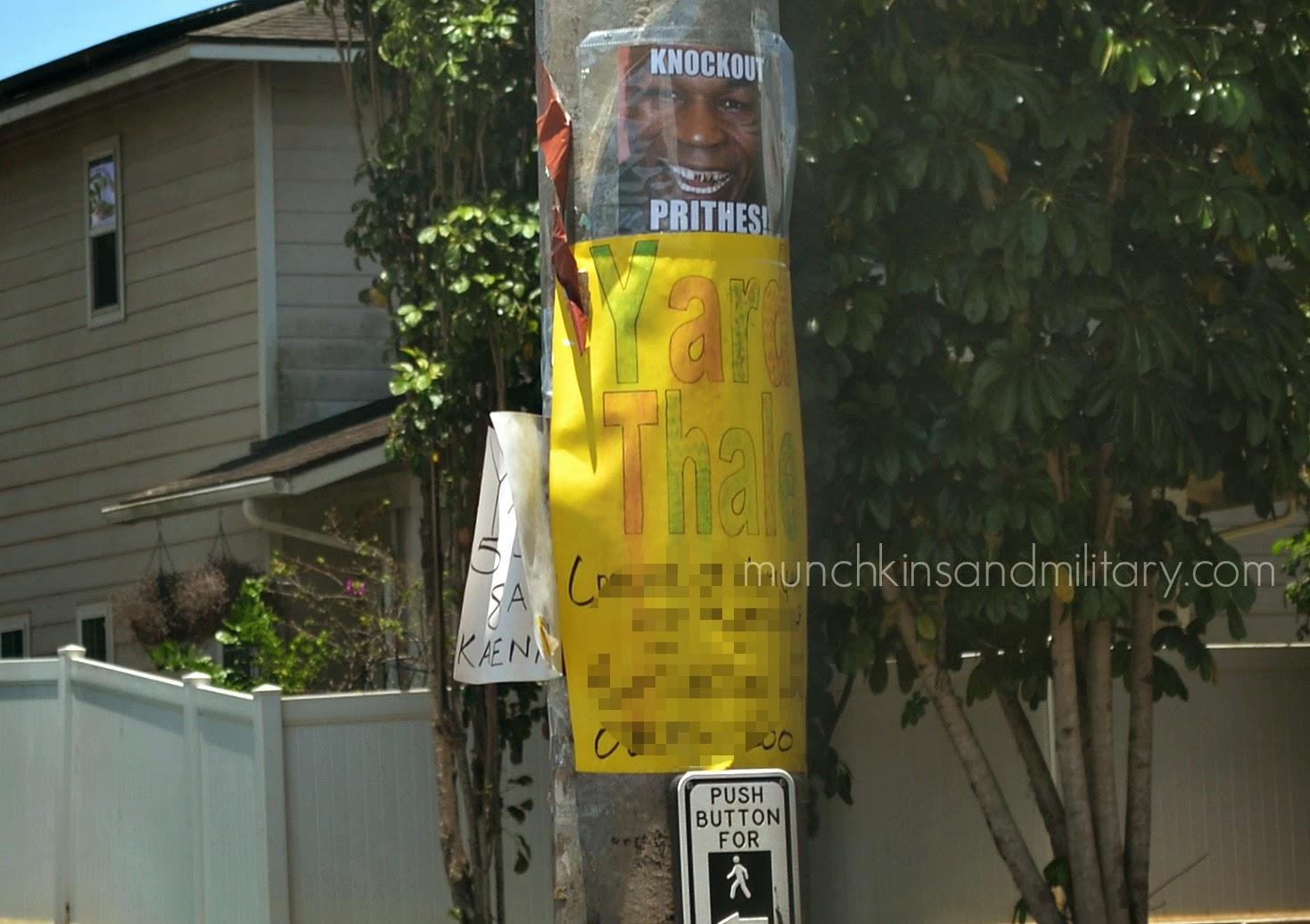 mike tyson yard sale sign