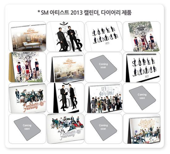 Kalender 2013 SM Entertainment