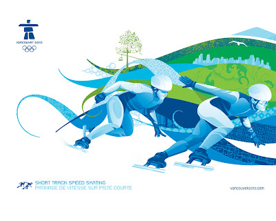 Free Vancouver 2010 Olympic Winter Games PowerPoint Background 22