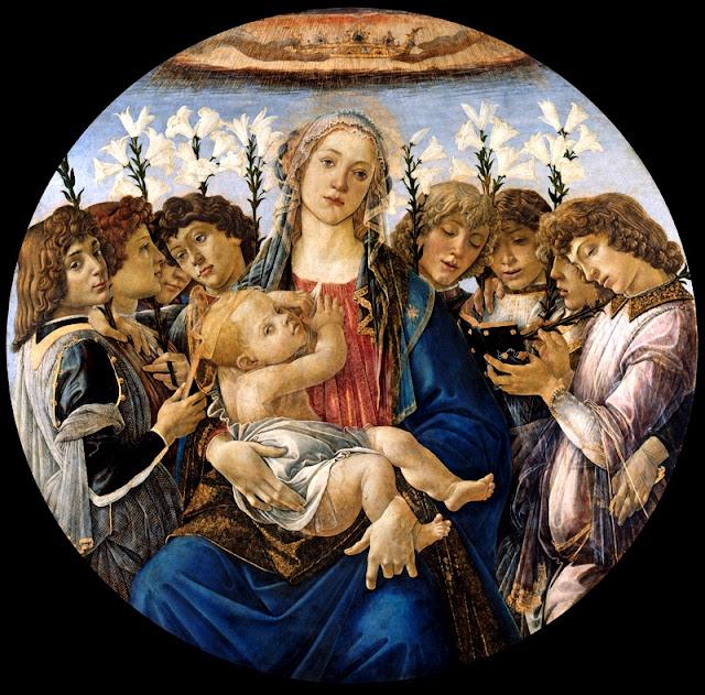 Botticelli, Vierge à l'enfant avec les anges qui chantent, 1477