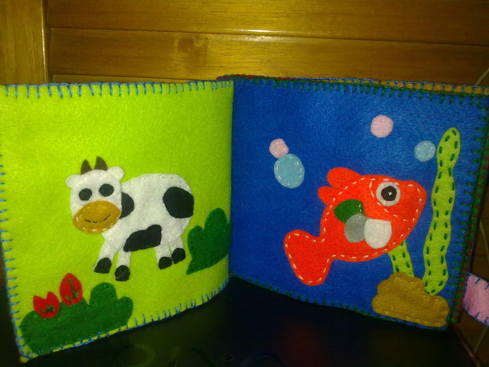 Felt craft book - Education Felt Book For Baby Animal Series 1