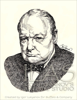 portrait de Winston Churchill