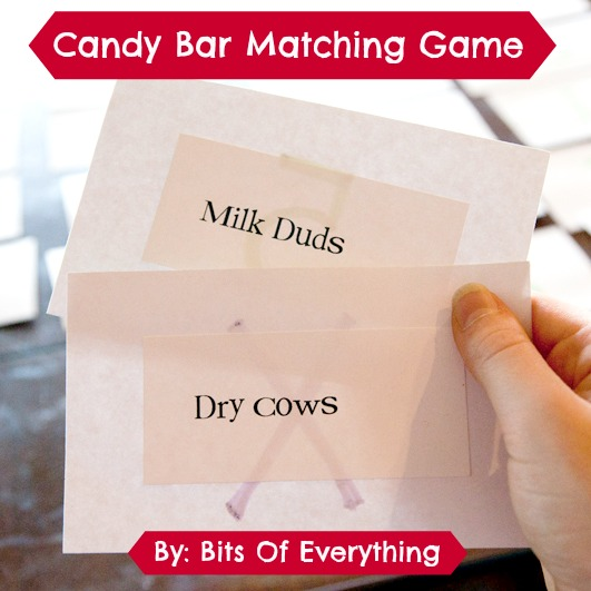 Candy Bar Matching Game Bits Of Everything