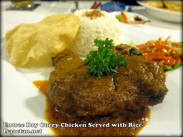 ntree Dry Curry Chicken Served with Rice