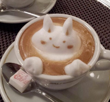 arte café japão 3d