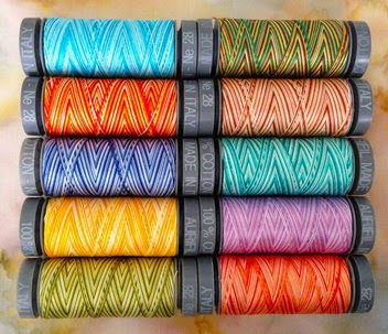 variegated aurifil thread