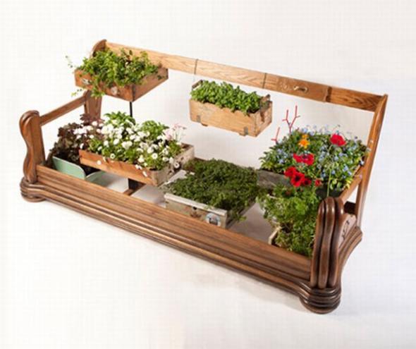 Plantamer macetas con muebles reciclados - Reciclado de muebles viejos ...