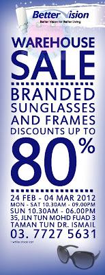 Better Vision Warehouse Sale END 4 MAR 2012