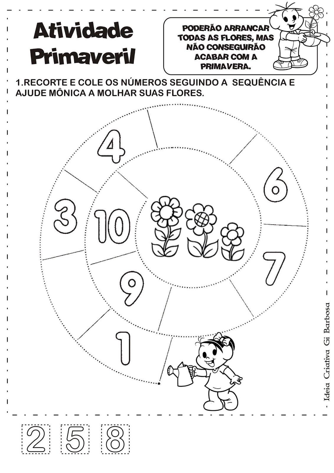 Conhecido Álbum com Atividades Projeto Primavera | Ideia Criativa - Gi  XY76