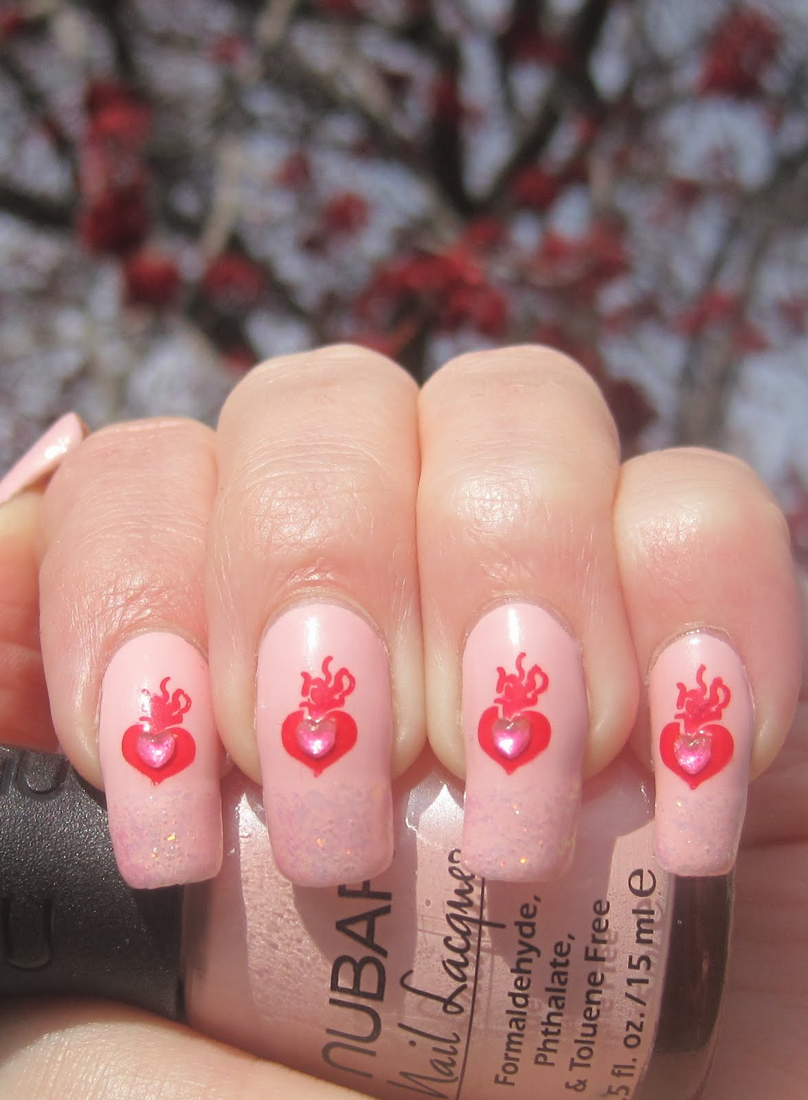Painted Lady Fingers Flaming Hearts Nubar Pink Lily