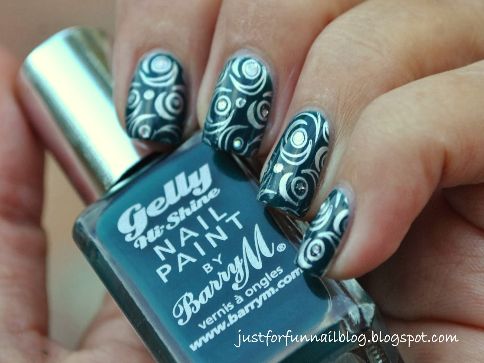 Barry M - Dark Green with Pueen Plates Design (pueen46)