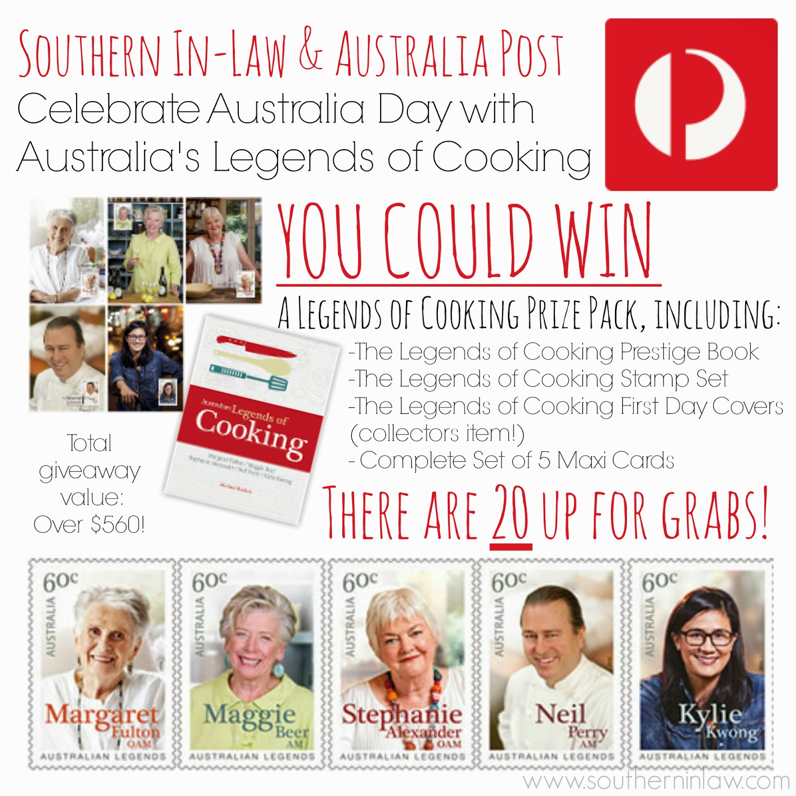 Australian Legends of Cooking Giveaway 2014