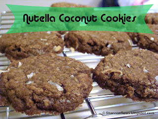 Nutella Coconut Cookies are a quick, simple chocolate cookie recipe