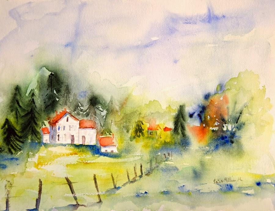 aquarelle fermes
