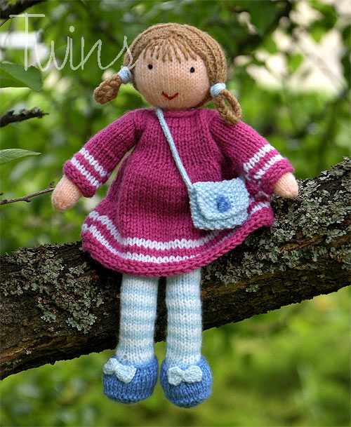Twins Knitting Pattern MiniShop: Valerie the Knitted Doll ...