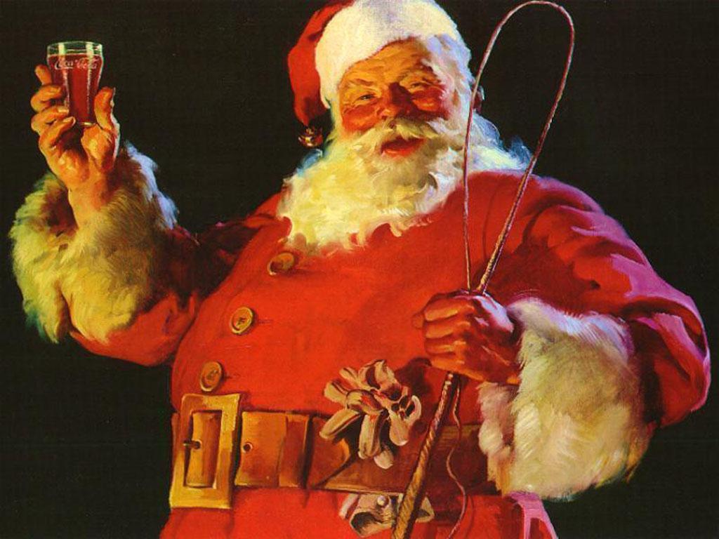 Santa Claus festejando
