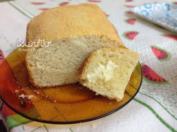 Receita de pão de kefir com alho