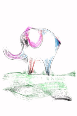Elefántot rajzoltam :)