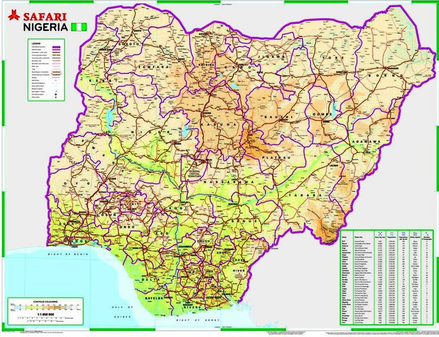 nigeria road map distance