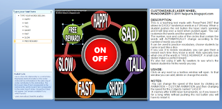 CUSTOMIZABLE LASER WHEEL RANDOMIZER (Powerpoint tool for teaching vocabulary)