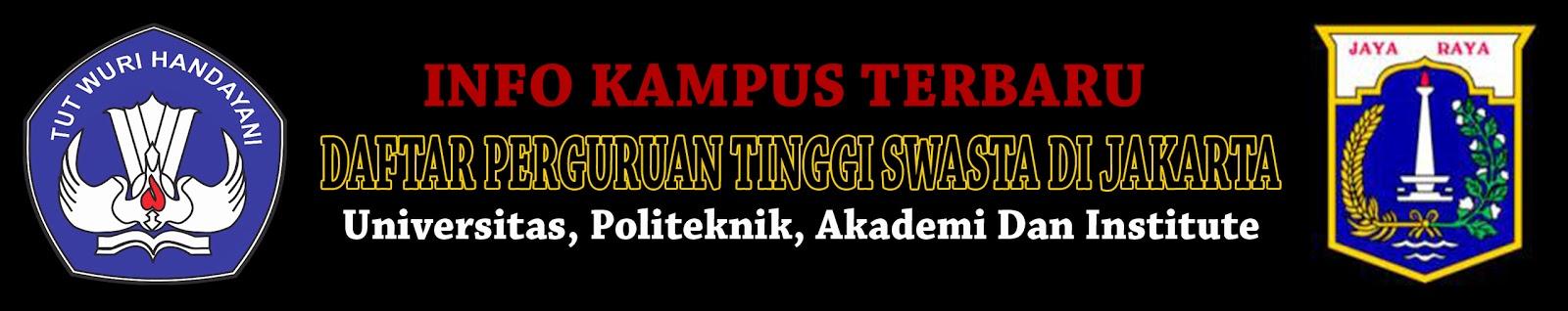 Daftar Perguruan Tinggi Swasta Di DKI Jakarta