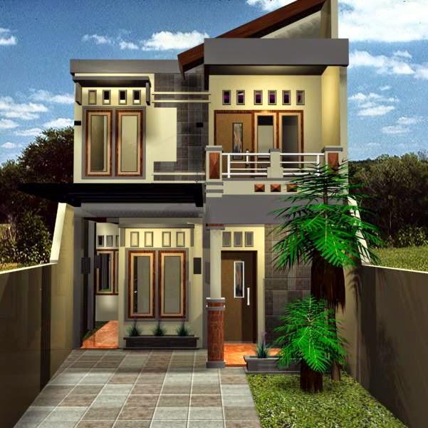gambar model rumah mewah 2 lantai)