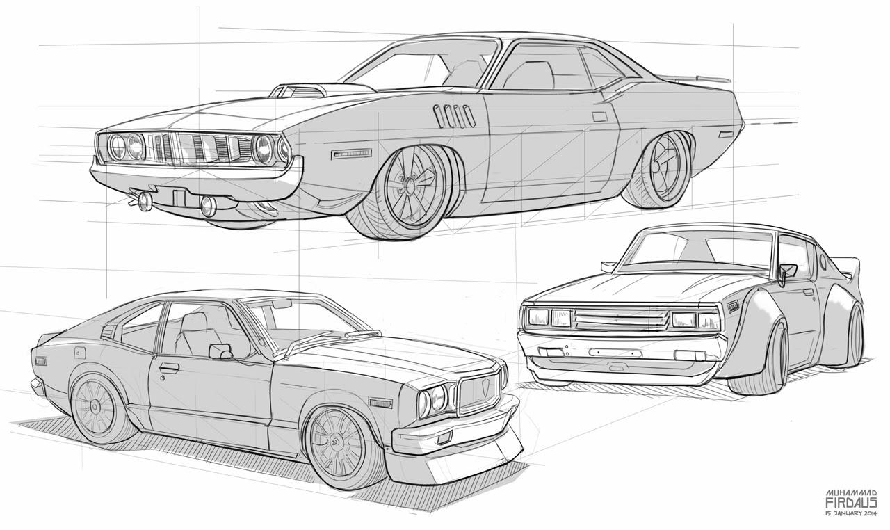 maggot in the brain: Car Sketches