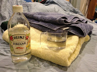 Add Vinegar in place of Fabric Softener
