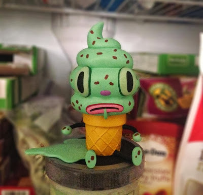 Mint Chocolate Chip Creamy Vinyl Figure by Gary Baseman