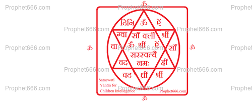 A Indian Talisman of the Goddess Saraswati to increase Intelligence