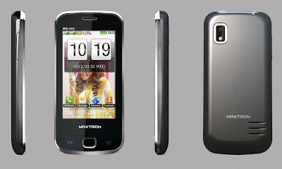 Maxtron MG-353, Handphone Layar Sentuh Dual-SIM TV - IDhandphone
