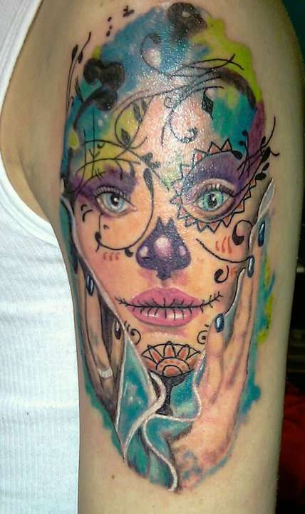 Rad tats sugar skull girls for Candy skull tattoo