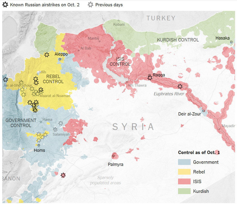 Syria - Russian airstrikes