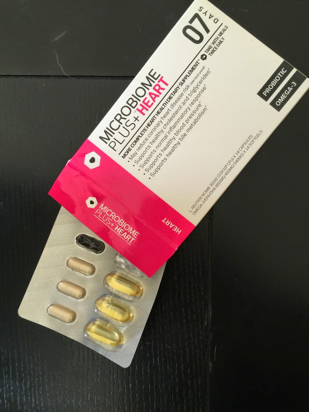 giveaway: win microbiome plus and heart supplements month supply for better heart health