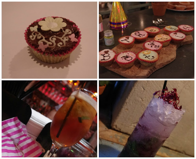 Cupcake Making Station and Cocktails