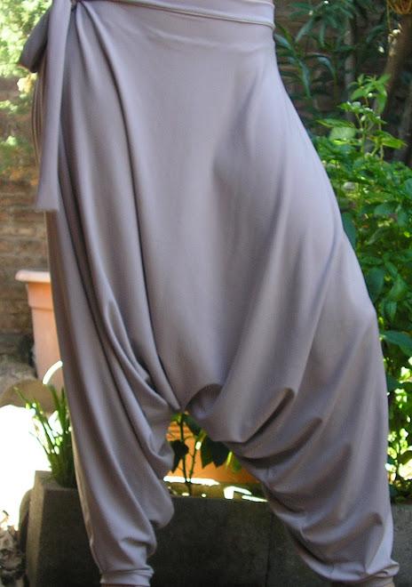 Chiripá en seda fría visón