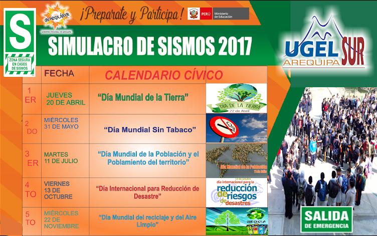 Prepárate y participa  #SIMULACRO_DE_SISMOS 2017 #UGELArequipaSur