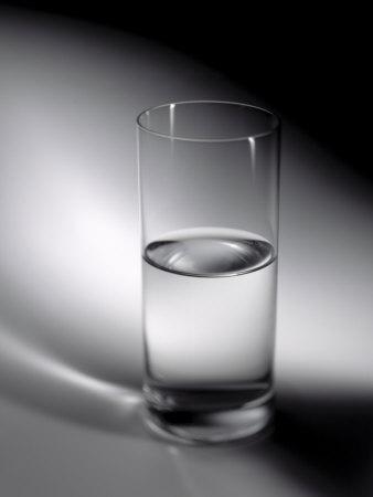 glass half full. of the glass as half full.
